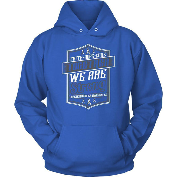 Faith Hope Cure Together We Are Strong Carcinoid Cancer Awareness Gift Hoodie-T-shirt-Unisex Hoodie-Royal Blue-JoyHip.Com