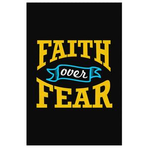 Faith Over Fear Christian Canvas Wall Art Room Decor Gift Religious Spiritual-Canvas Wall Art 2-8 x 12-JoyHip.Com