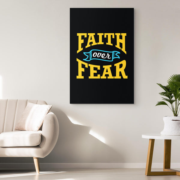 Faith Over Fear Christian Canvas Wall Art Room Decor Gift Religious Spiritual-Canvas Wall Art 2-JoyHip.Com