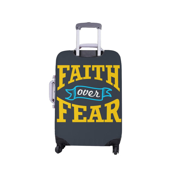 Faith Over Fear Christian Travel Luggage Cover Suitcase Protector Fit 18-28 Inch-JoyHip.Com