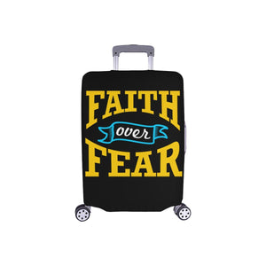 Faith Over Fear Christian Travel Luggage Cover Suitcase Protector Fit 18-28 Inch-S-Black-JoyHip.Com