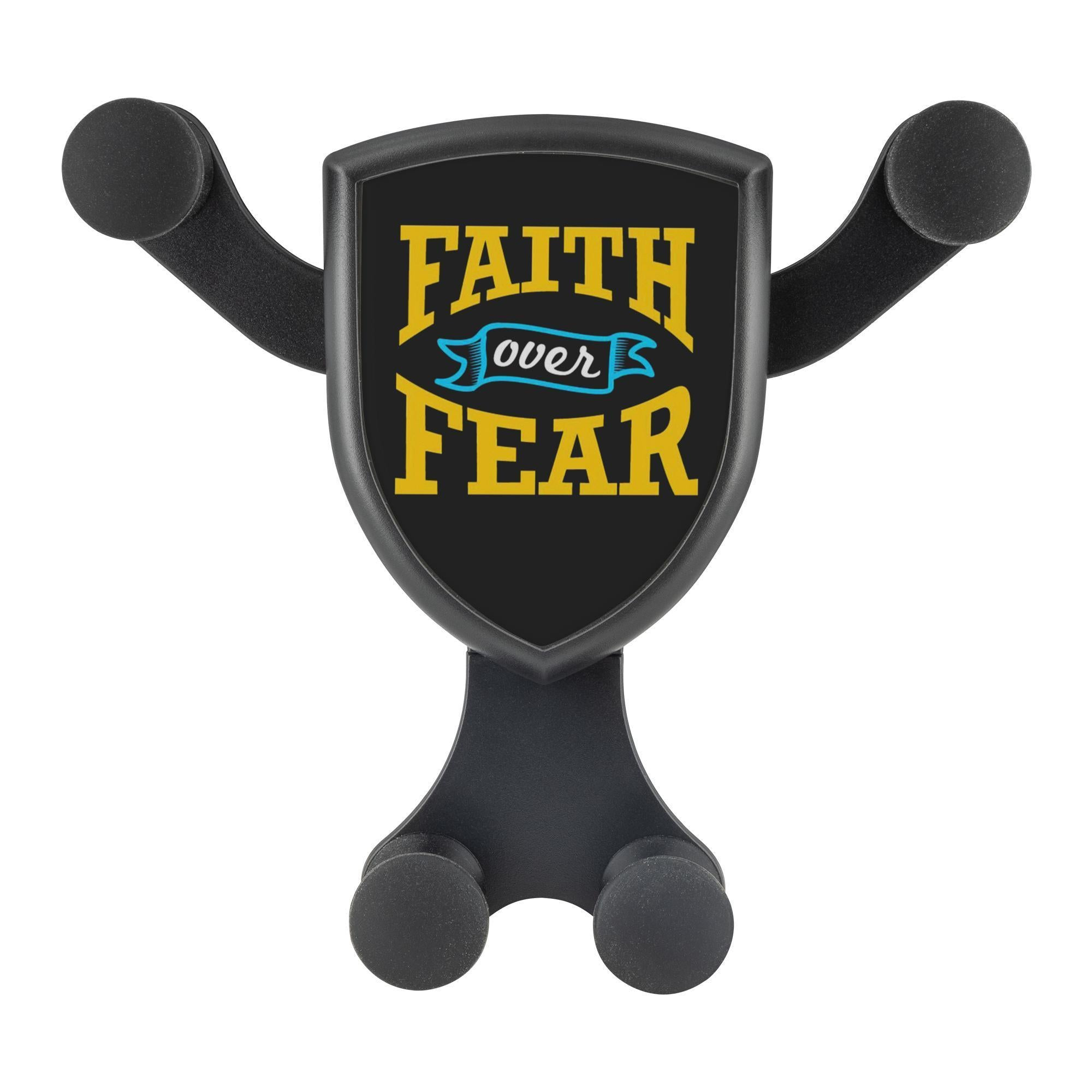 Faith Over Fear Qi Wireless Car Charger Mount Christian Gift Religious Spiritual-Gravitis Car Charger-Gravitis - Wireless Car Charger-JoyHip.Com