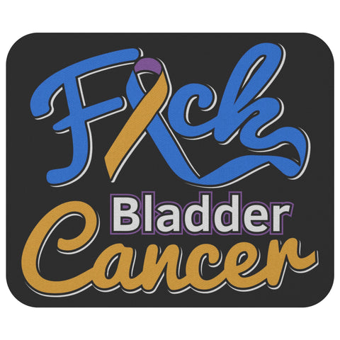 F*ck Bladder Cancer Comfort Gifts For Chemo Patients Cute Mouse Pad-Mousepads-Black-JoyHip.Com