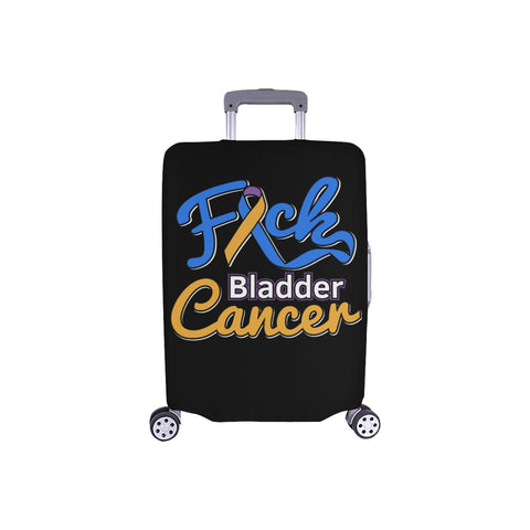 "F*ck Bladder Cancer Travel Luggage Cover Baggage Protector 18""-28"" Baggage-S-Black-JoyHip.Com"