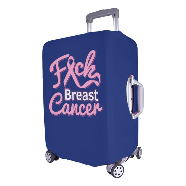 "F*ck Breast Cancer Pink Ribbon Travel Luggage Cover Suitcase Protector 18""-28""-JoyHip.Com"