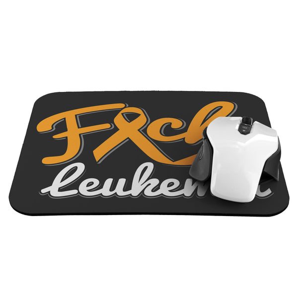 F*ck Leukemia Cancer Orange Ribbon Comfort Gift For Chemo Patient Cute Mouse Pad-Mousepads-JoyHip.Com