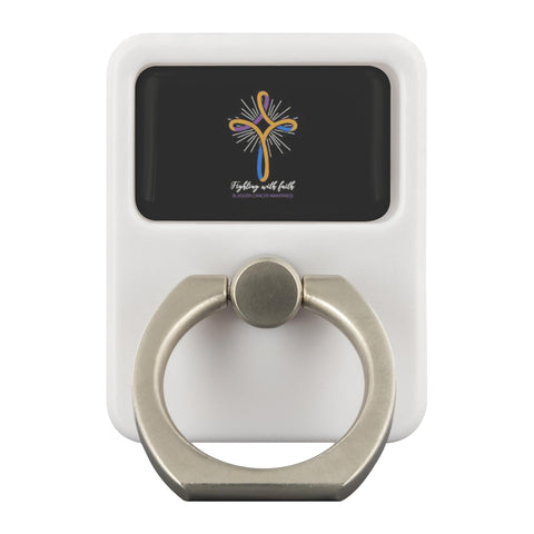 Fighting With Faith Bladder Cancer Awareness Phone Ring Holder Kickstand Gifts-Ringr - Multi-Tool Accessory-Ringr - Multi-Tool Accessory-JoyHip.Com