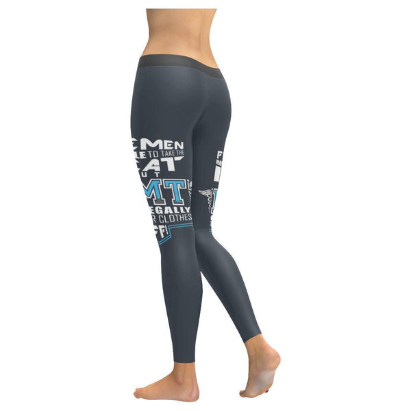 Firemen Able Take The Heat But EMTs Can Legally Take Your Clothes Off Leggings-JoyHip.Com
