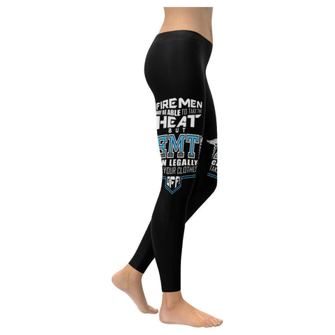 Firemen Able Take The Heat But EMTs Can Legally Take Your Clothes Off Leggings-XXS-Black-JoyHip.Com