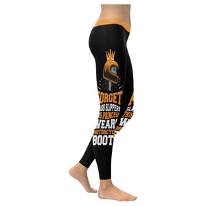 Forget Glass Slippers This Princess Wears Motorcycle Boots UPF40 Womens Leggings-XXS-Black-JoyHip.Com