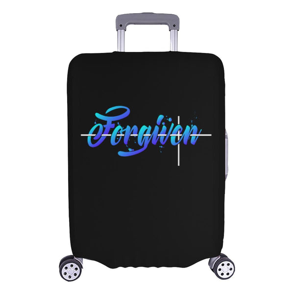 Forgiven Christian Travel Luggage Cover Suitcase Protector Fits 18-28 Inch-L-Black-JoyHip.Com