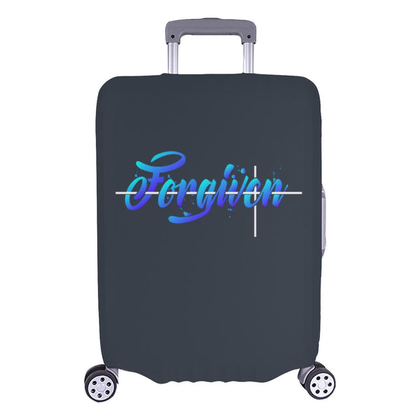 Forgiven Christian Travel Luggage Cover Suitcase Protector Fits 18-28 Inch-L-Grey-JoyHip.Com