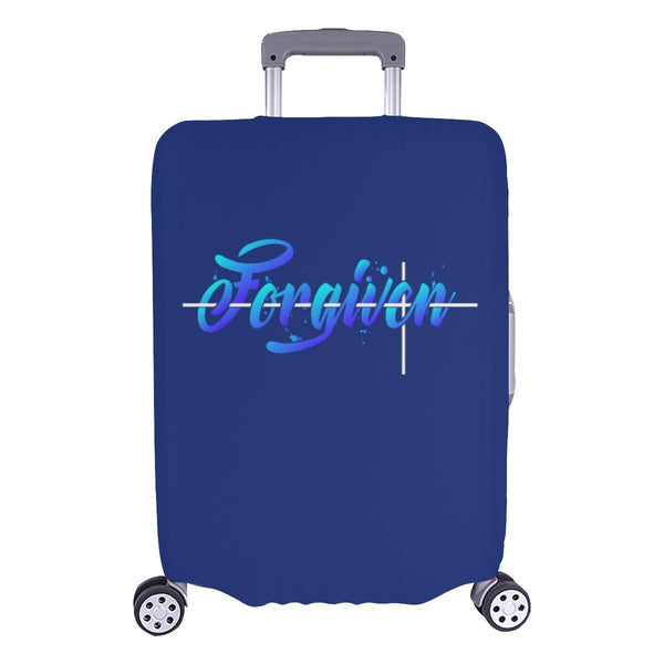 Forgiven Christian Travel Luggage Cover Suitcase Protector Fits 18-28 Inch-L-Navy-JoyHip.Com