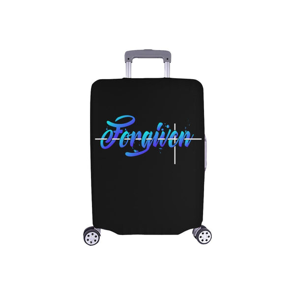 Forgiven Christian Travel Luggage Cover Suitcase Protector Fits 18-28 Inch-S-Black-JoyHip.Com