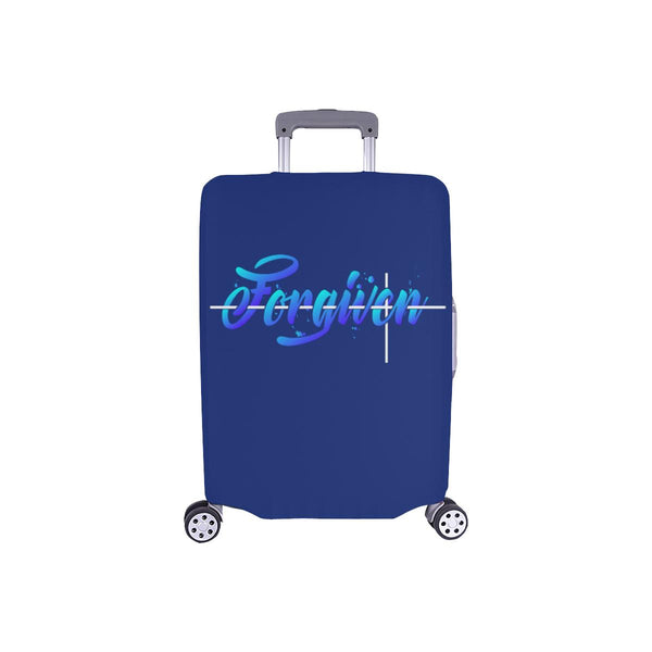 Forgiven Christian Travel Luggage Cover Suitcase Protector Fits 18-28 Inch-S-Navy-JoyHip.Com