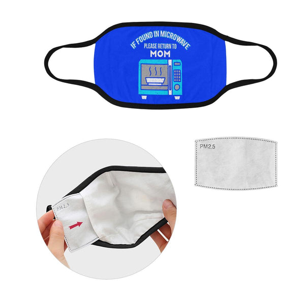 Found In Microwave Return To Mom Washable Reusable Face Mask With Filter Pocket-Face Mask-L-Royal Blue-JoyHip.Com