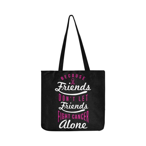 Friends Dont Let Friends Fight Breast Cancer Alone Reusable Shopping Produce Bag-One Size-Black-JoyHip.Com