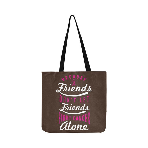 Friends Dont Let Friends Fight Breast Cancer Alone Reusable Shopping Produce Bag-One Size-Brown-JoyHip.Com