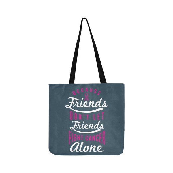 Friends Dont Let Friends Fight Breast Cancer Alone Reusable Shopping Produce Bag-One Size-Grey-JoyHip.Com