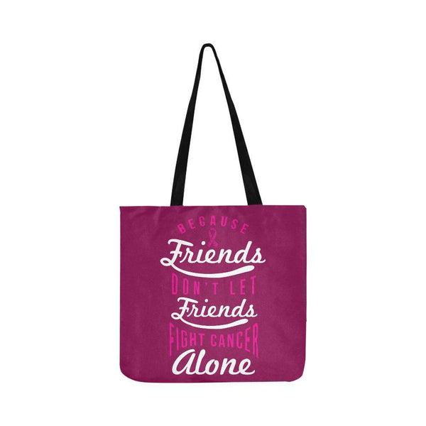 Friends Dont Let Friends Fight Breast Cancer Alone Reusable Shopping Produce Bag-One Size-Maroon-JoyHip.Com