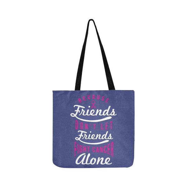 Friends Dont Let Friends Fight Breast Cancer Alone Reusable Shopping Produce Bag-One Size-Orchid-JoyHip.Com