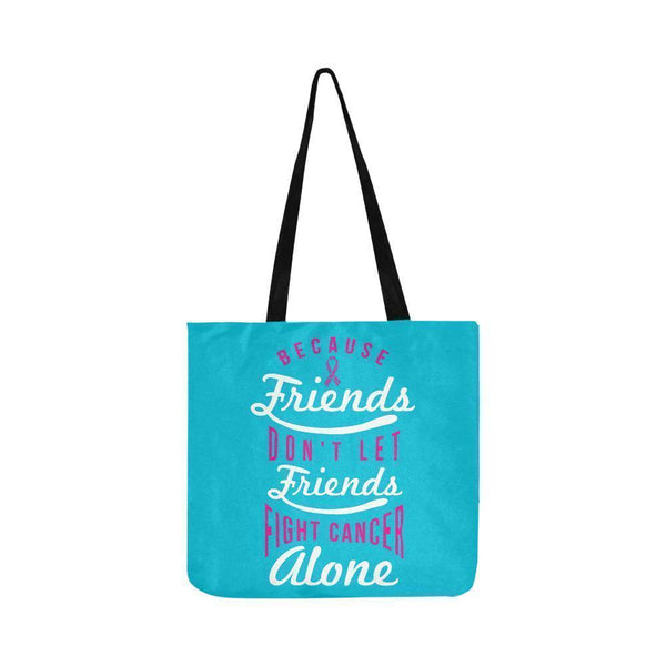 Friends Dont Let Friends Fight Breast Cancer Alone Reusable Shopping Produce Bag-One Size-Turquoise-JoyHip.Com
