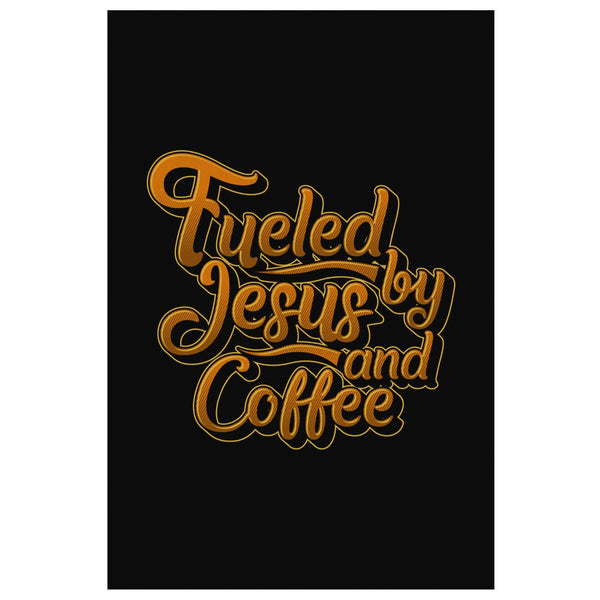 Fueled By Jesus & Coffee Christian Canvas Wall Art Room Decor Gift Religious-Canvas Wall Art 2-8 x 12-JoyHip.Com