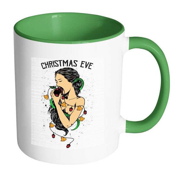 Garden Of Eden Christmas Eve Festive Funny Ugly Christmas Holiday Sweater 11oz Accent Coffee Mug (7 Colors)-Drinkware-Accent Mug - Green-JoyHip.Com