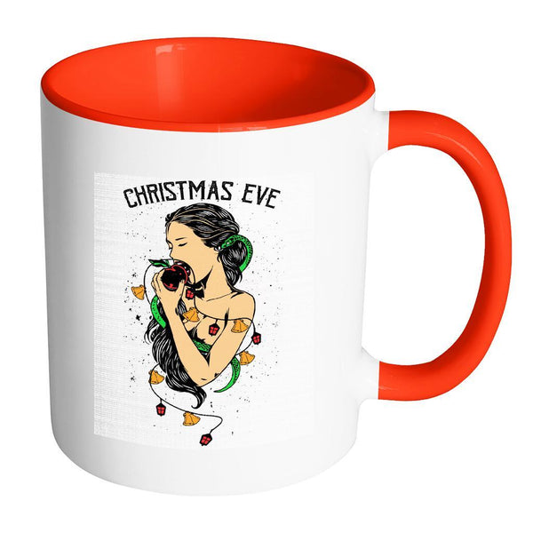 Garden Of Eden Christmas Eve Festive Funny Ugly Christmas Holiday Sweater 11oz Accent Coffee Mug (7 Colors)-Drinkware-Accent Mug - Red-JoyHip.Com