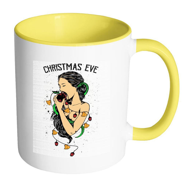 Garden Of Eden Christmas Eve Festive Funny Ugly Christmas Holiday Sweater 11oz Accent Coffee Mug (7 Colors)-Drinkware-Accent Mug - Yellow-JoyHip.Com