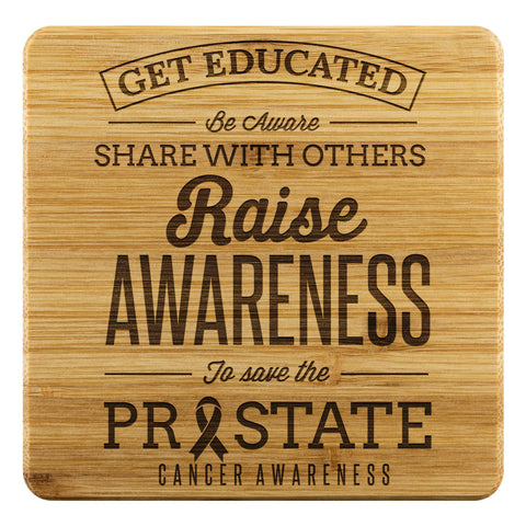 Get Educated Be Aware Raise Awareness Save Prostate Drink Coasters Set Gifts-Coasters-Bamboo Coaster - 4pc-JoyHip.Com