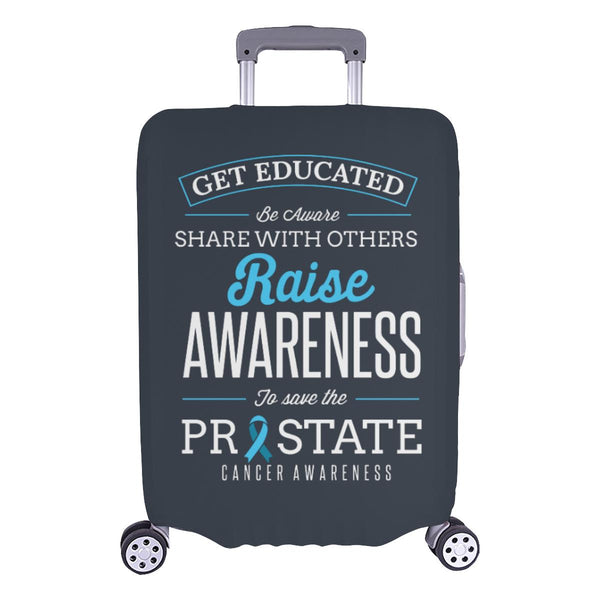 Get Educated Be Aware Raise Awareness Save Prostate Travel Luggage Cover-L-Grey-JoyHip.Com