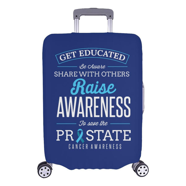 Get Educated Be Aware Raise Awareness Save Prostate Travel Luggage Cover-L-Navy-JoyHip.Com