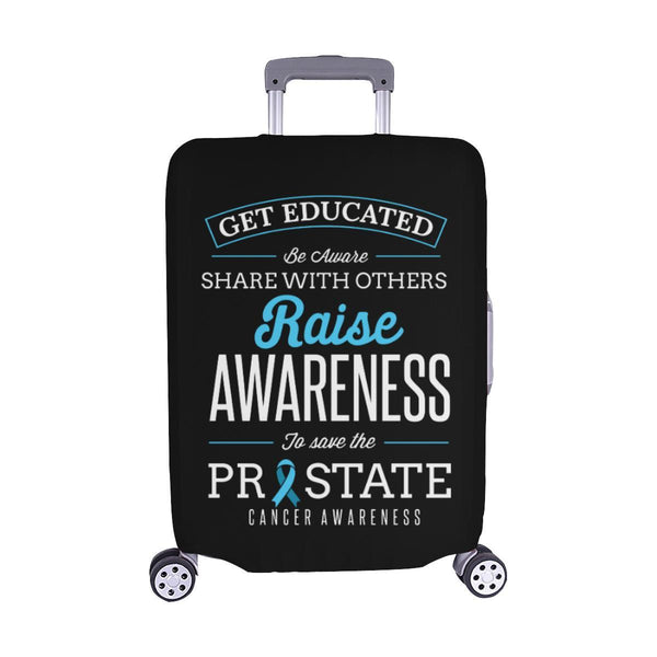 Get Educated Be Aware Raise Awareness Save Prostate Travel Luggage Cover-M-Black-JoyHip.Com