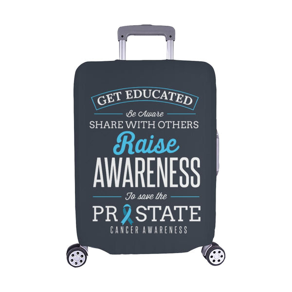 Get Educated Be Aware Raise Awareness Save Prostate Travel Luggage Cover-M-Grey-JoyHip.Com