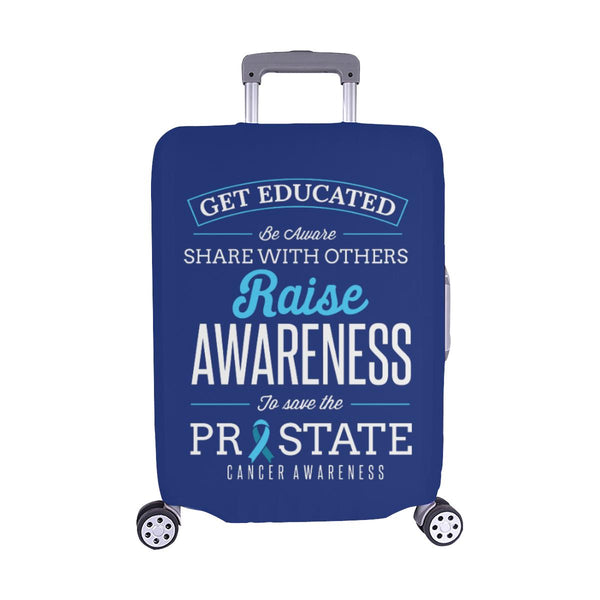 Get Educated Be Aware Raise Awareness Save Prostate Travel Luggage Cover-M-Navy-JoyHip.Com