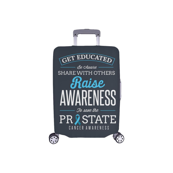 Get Educated Be Aware Raise Awareness Save Prostate Travel Luggage Cover-S-Grey-JoyHip.Com