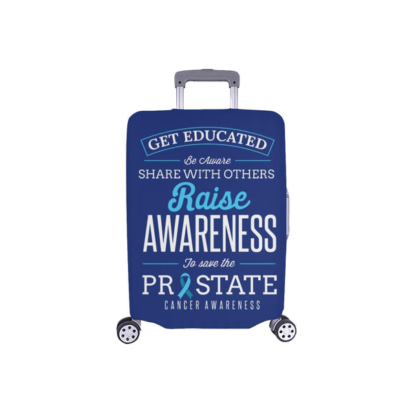 Get Educated Be Aware Raise Awareness Save Prostate Travel Luggage Cover-S-Navy-JoyHip.Com