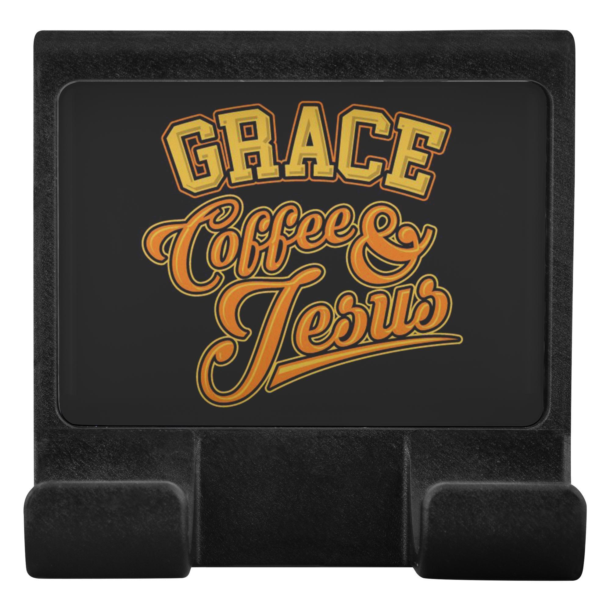 Grace Coffee & Jesus Christian Cell Phone Monitor Holder Laptop Desktop Display-Moniclip-Moniclip-JoyHip.Com