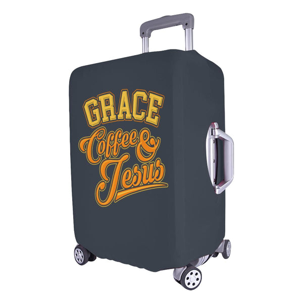 "Grace Coffee & Jesus Christian Travel Luggage Cover Suitcase Protector 18""-28""-JoyHip.Com"