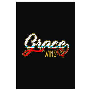 Grace Wins Christian Canvas Wall Art Room Decor Gift Ideas Religious Spiritual-Canvas Wall Art 2-8 x 12-JoyHip.Com