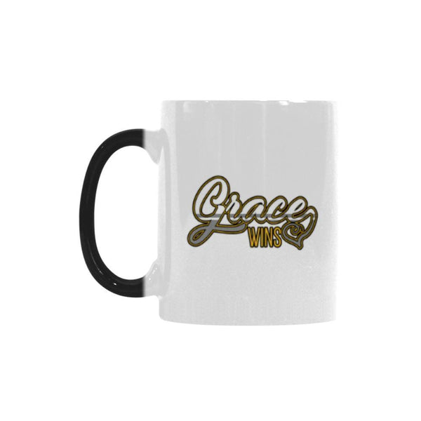 Grace Wins Christian Color Changing/Morphing 11oz Coffee Mug-Morphing Mug-One Size-JoyHip.Com