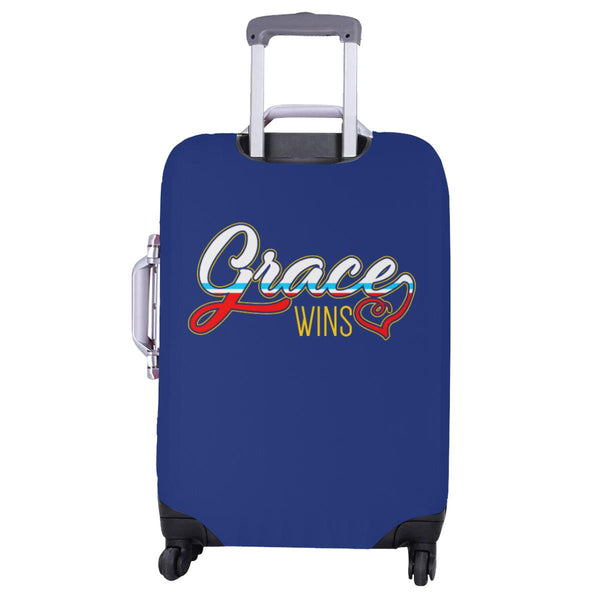 "Grace Wins Christian Travel Luggage Cover Suitcase Protector Fit 18""-28"" Baggage-JoyHip.Com"