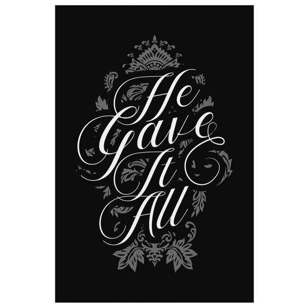 He Gave It All Christian Canvas Wall Art Room Decor Gift Ideas Religious Present-Canvas Wall Art 2-8 x 12-JoyHip.Com