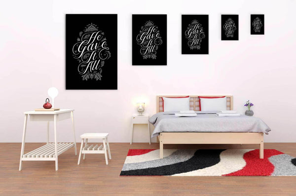 He Gave It All Christian Canvas Wall Art Room Decor Gift Ideas Religious Present-Canvas Wall Art 2-JoyHip.Com
