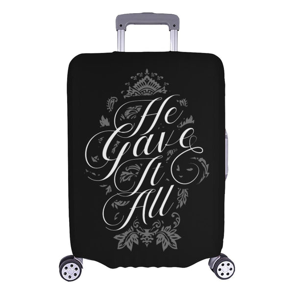 He Gave It All Christian Travel Luggage Cover Suitcase Protector Fits 18-28 Inch-L-Black-JoyHip.Com