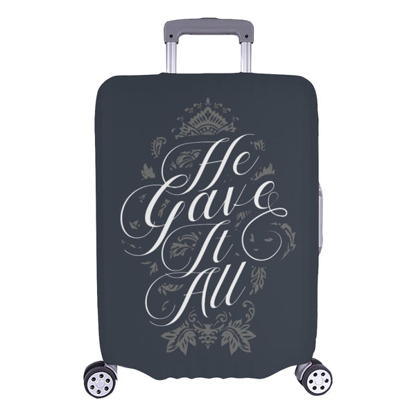 He Gave It All Christian Travel Luggage Cover Suitcase Protector Fits 18-28 Inch-L-Grey-JoyHip.Com