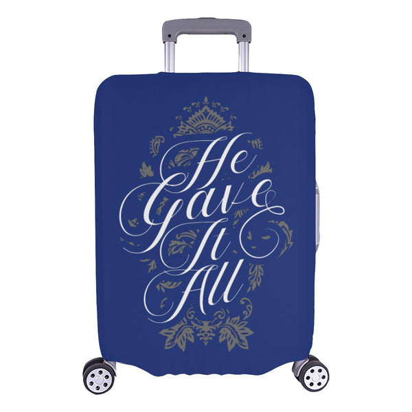 He Gave It All Christian Travel Luggage Cover Suitcase Protector Fits 18-28 Inch-L-Navy-JoyHip.Com