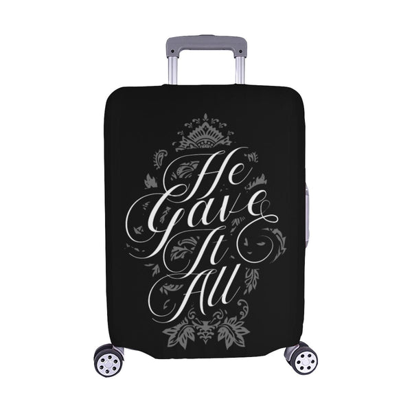 He Gave It All Christian Travel Luggage Cover Suitcase Protector Fits 18-28 Inch-M-Black-JoyHip.Com