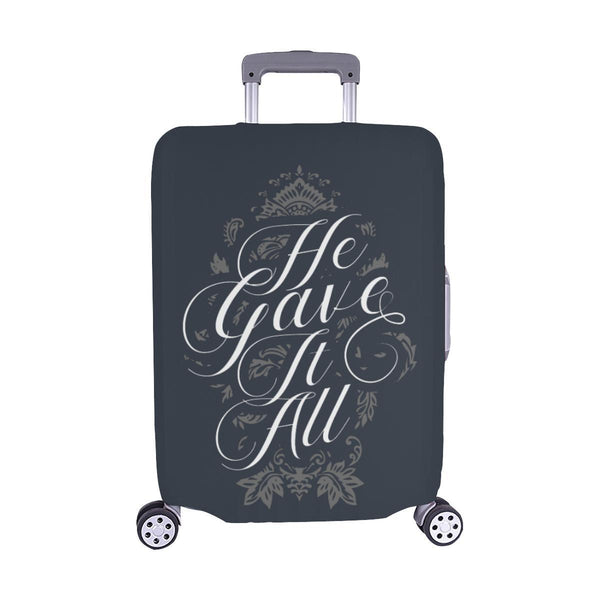 He Gave It All Christian Travel Luggage Cover Suitcase Protector Fits 18-28 Inch-M-Grey-JoyHip.Com